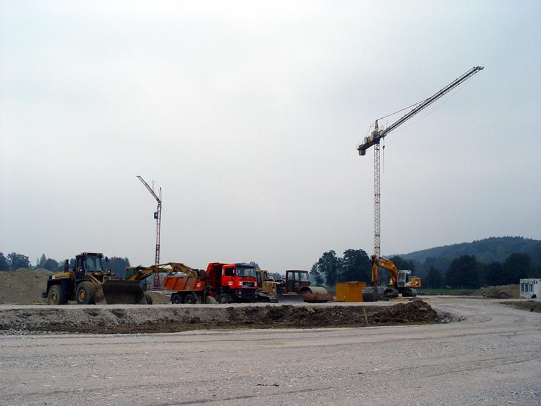 Der Fuhrpark der Baufirma