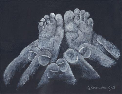 Greif Hand und Fuß