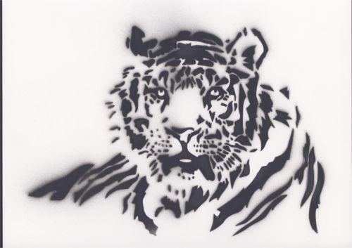 Schablone Tiger